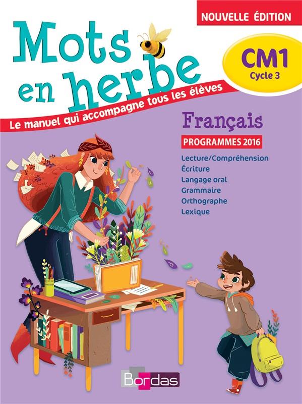 Mots En Herbe Cm1 Francais 2017 Manuel Numerique