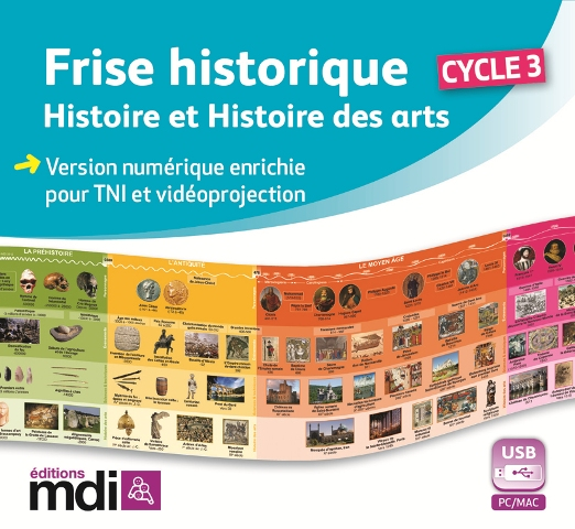 Frise Historique Multimedia Cycle 3 - 1 licence enseignant - Durée ...