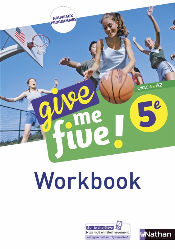 Workbook numérique Give me five 5e - 2017
