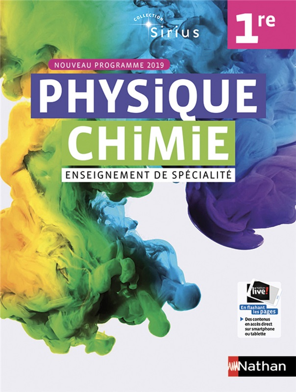 Sirius Physique-Chimie 1re  - 2019
